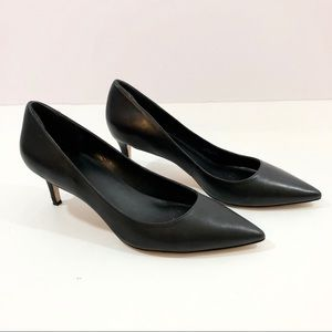 Via Spiga Classic Pointed-Toe Heeled Pump In Black